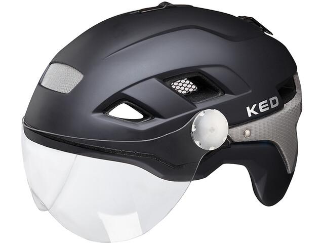 KED B-Vis X-Lite Kask rowerowy, black matt